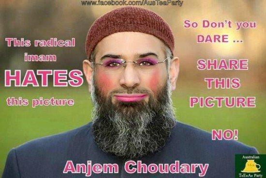 Anjem Choudary pink