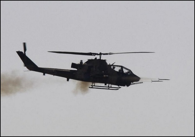 Combat Cobra helicopter fires during the EFES-2010 military exercise in Izmir
