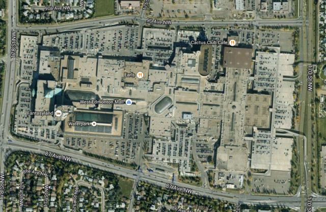 West Edmonton Mall, arial view